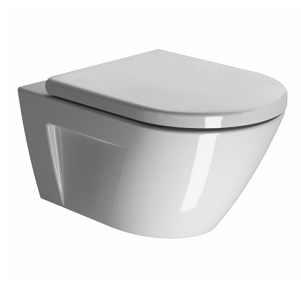 GSI Norm 55/f Swirl Flush Wall Hung Pan With Soft Close Seat-0