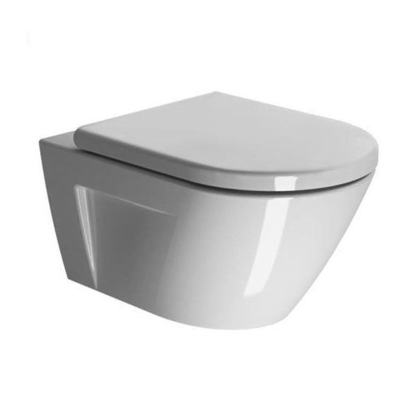 GSI Norm 55 Wall Hung WC Pan With Soft Closing Seat-0