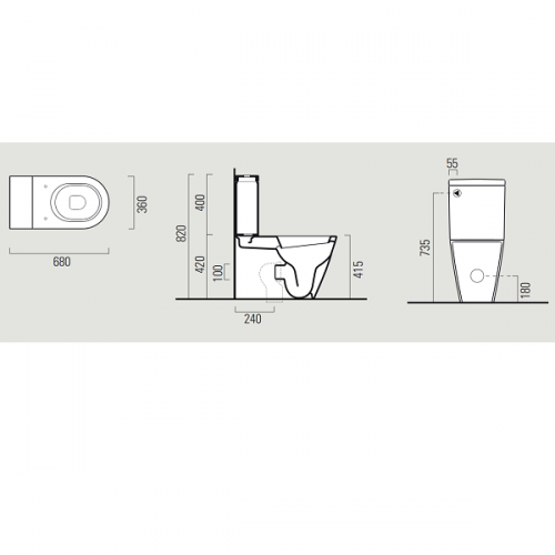 GSI Norm 68 Close Coupled WC Pan And Cistern-16938