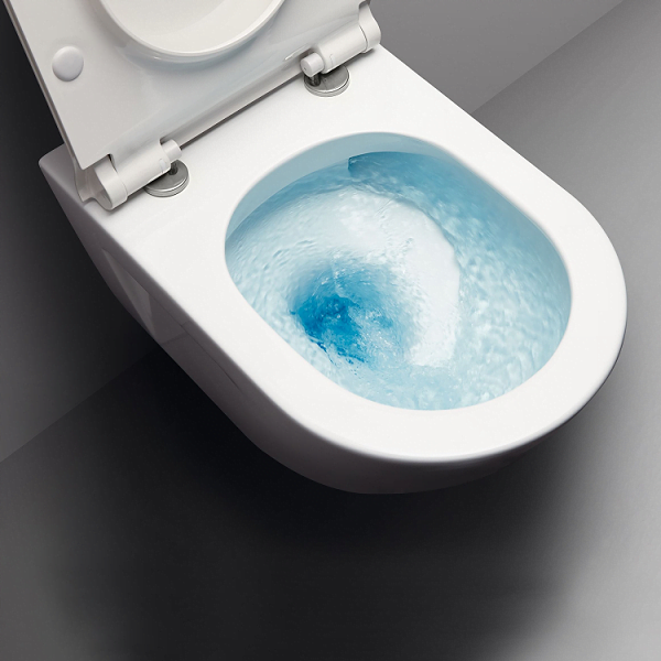 GSI Norm 55/f Swirl Flush Wall Hung Pan With Soft Close Seat-16933