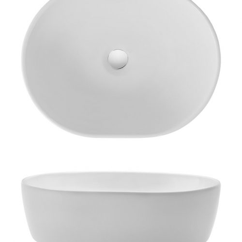 Crosswater Pearl Countertop Basin CT05823UCW-0
