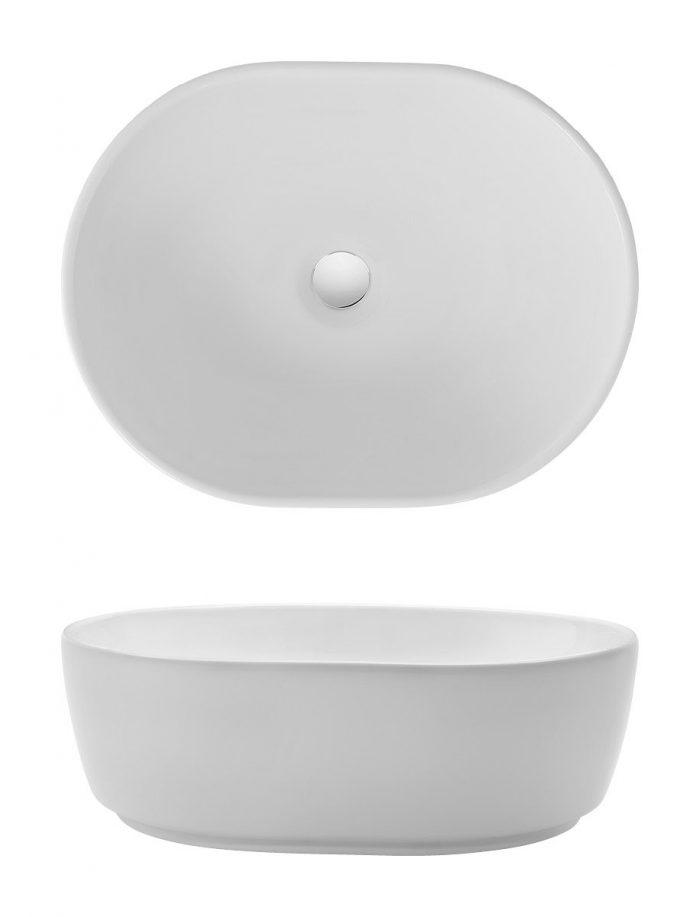 Bauhaus Pearl Countertop Basin CT05823UCW-0