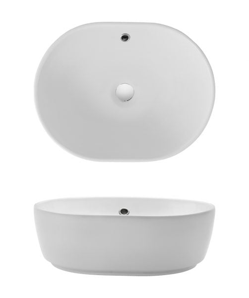 Bauhaus Pearl Countertop Basin with Overflow CT05823SCW-0