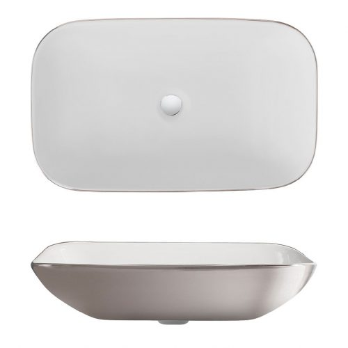 Bauhaus Serene Platinum Long Countertop Basin CT0234UCP
