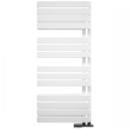Bauhaus Svelte 500 x 1100mm Soft Matt White Towel Rail-0