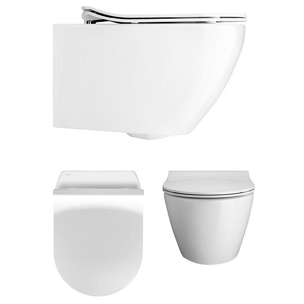 Bauhaus Svelte White Wall Hung WC Pan With Thin SC Seat-0