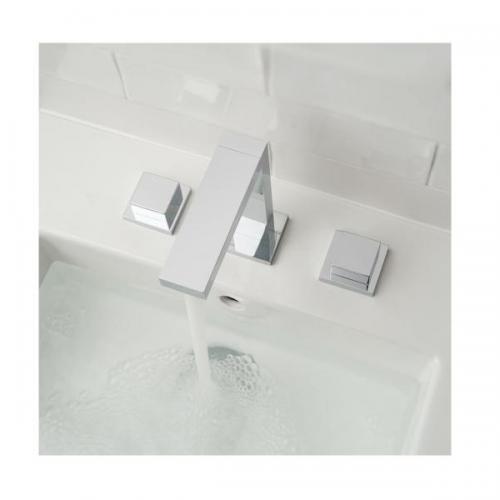 Vado Notion Slimline Deck Mounted Chrome 3 Hole Basin Mixer-15938
