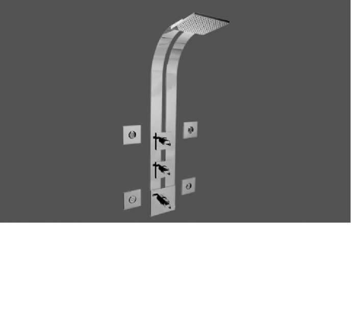 Graff Immersion Polished Chrome Thermostatic SKI Shower Set - Exposed Parts