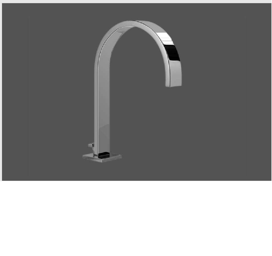 Graff Qubic Tre Polished Chrome Deck Mounted Washbasin Mixer