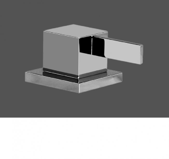 Graff Qubic Tre Polished Chrome Deck Mounted Basin Valve - Clockwise Opening