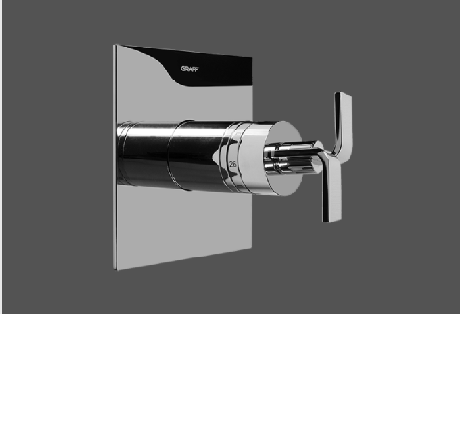 """Graff Immersion Polished Chrome 1/2"""" Concealed Thermostatic Valve - Exposed Parts"""