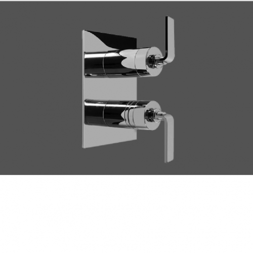 Graff Immersion Polished Chrome Concealed Thermostatic and Cut Off Valve - Exposed Parts