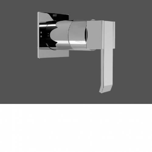 """Graff Qubic Polished Chrome 1/2"""" Concealed Diverter with 2 Outlets - Exposed Parts"""