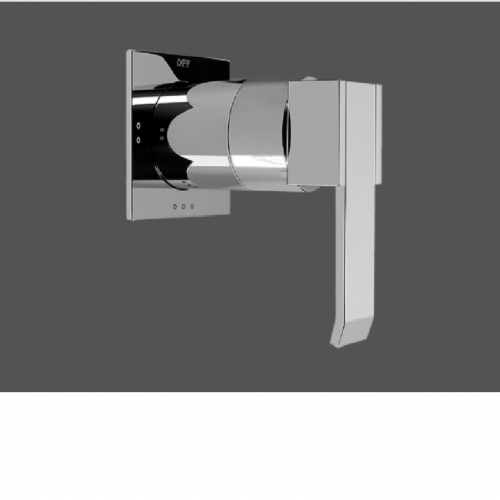 """Graff Qubic Polished Chrome 1/2"""" Concealed Diverter with 3 Outlets - Exposed Parts"""