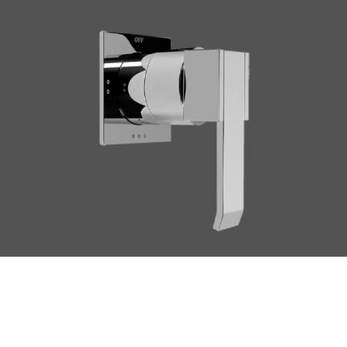 Graff Qubic Polished Chrome Concealed Diverter with 3 Outlets for Concealed Shower Mixers
