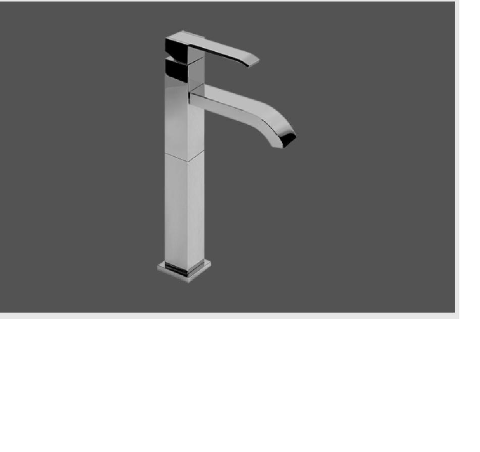Graff Qubic Polished Chrome High Single Lever Basin Mixer 12 cm spout