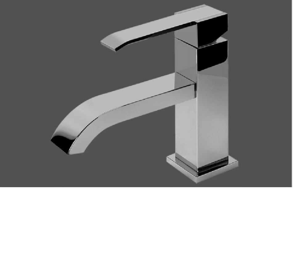 Graff Qubic Polished Chrome Single Lever Basin Mixer 12 cm spout