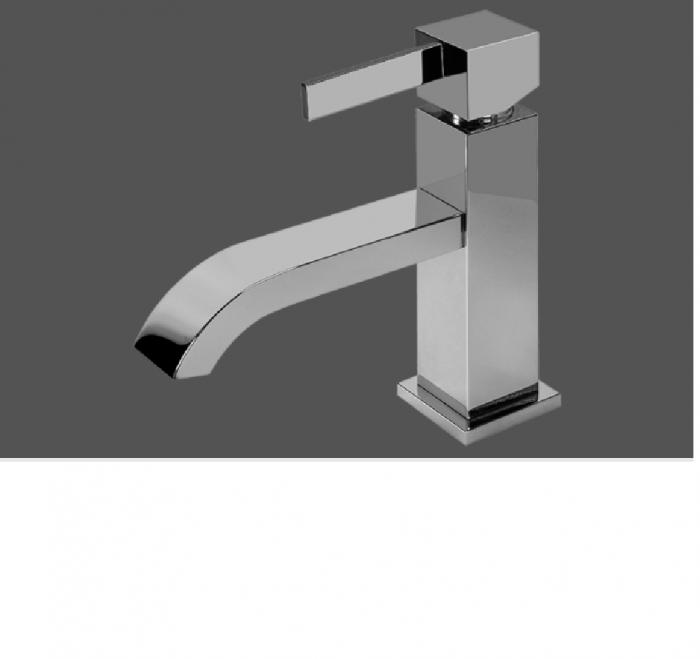 Graff Qubic Tre Polished Chrome Single Lever Basin Mixer 12cm Spout