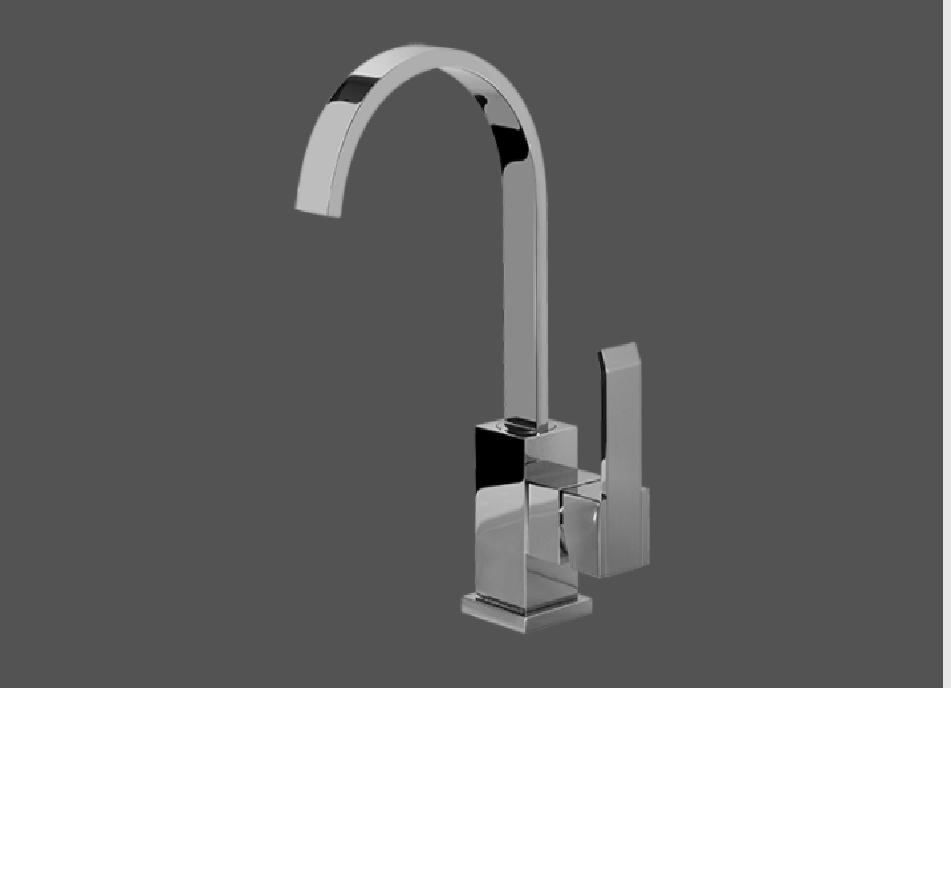 Graff Qubic Polished Chrome Single Lever Basin Mixer