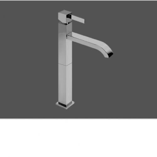 Graff Qubic Tre Polished Chrome Single Lever Basin Mixer 16.5cm Spout