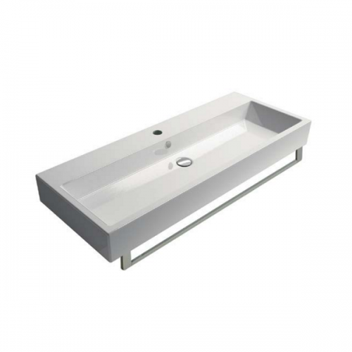 GSI Kube 150 Wall Mounted 2 Tap Hole Double Washbasin-0