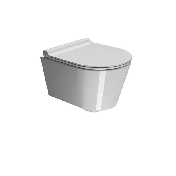 GSI Kube 45 Wall Hung WC Pan and Slim Soft Closing Seat-0