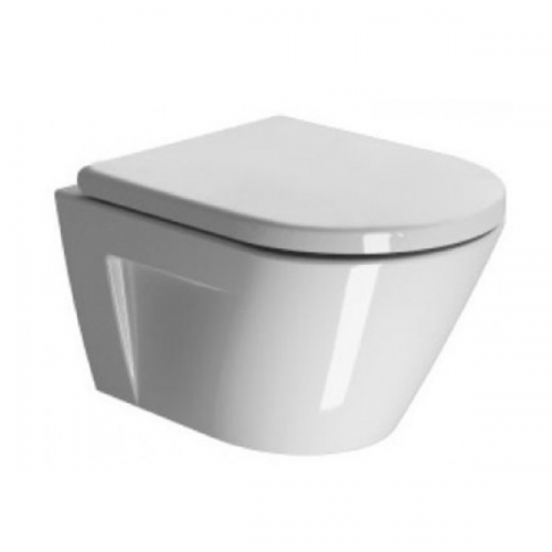 GSI Kube 50 Wall Hung Toilet Pan And Soft Closing Seat-0