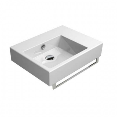 GSI Kube 60/d One Tap Hole Washbasin With Right Ledge-0