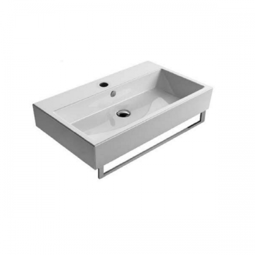 GSI Kube 80 Wall Mounted 800x470mm 1 Tap Hole Washbasin-0