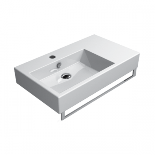 GSI Kube 80/d One Tap Hole Washbasin With Right Ledge-0