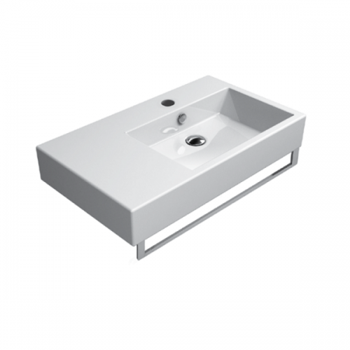 GSI Kube 80/s One Tap Hole Washbasin With Left Ledge-0