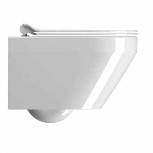 GSI Kube Flat 55 Wall Hung Pan And Soft Closing Seat-17111