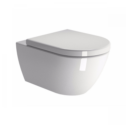 GSI Pura 50/f Swirl Flush Wall Hung WC Pan and Soft Close Seat-0