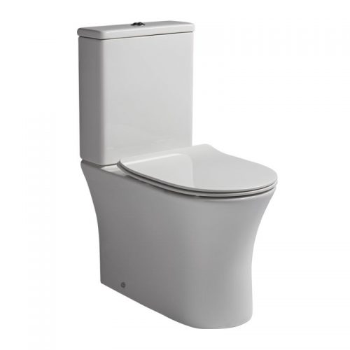 Buy R2 Radar Rimless Close Coupled WC Toilet with slim seat big