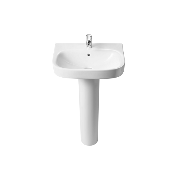 Roca Debba 450mm Wall Hung Only 1 Tap Hole Cloakroom Basin-18063
