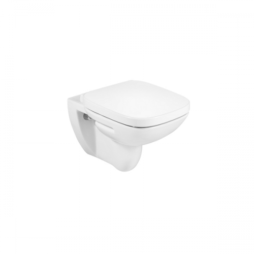 Roca Debba 540mm Projection Rimless Wall Hung Pan and Seat-0