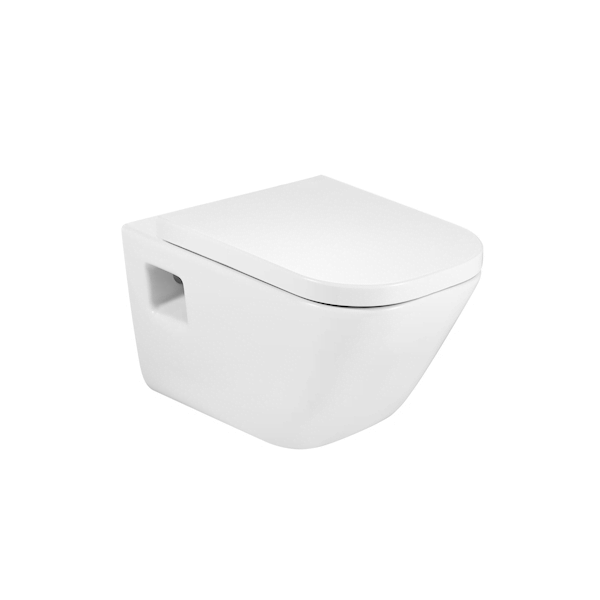 Roca Gap Wall Hung WC 540mm Projection Pan and Standard Seat-0