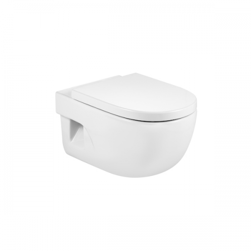 Roca Meridian-N 560mm Projection Wall Hung Pan and Seat-0