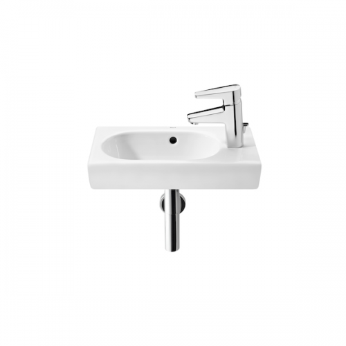 Roca Meridian-N Compact 350x320mm 1 Tap Hole Basin-0