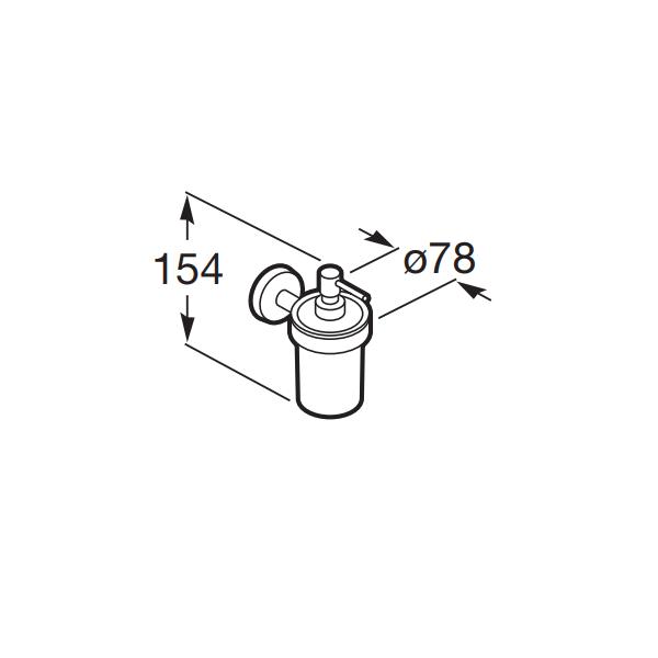 Roca Twin Wall Mounted Chrome Soap Dispenser 120.TWWSD-17374