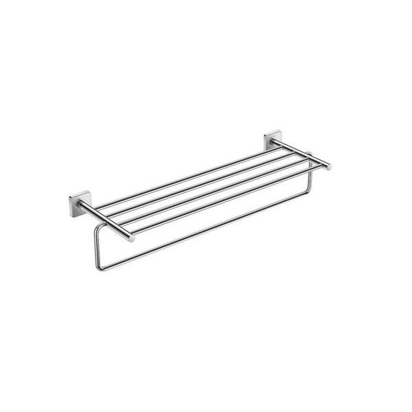 Roca Victoria Chrome 625x198mm Wall Mounted Towel Rack-0