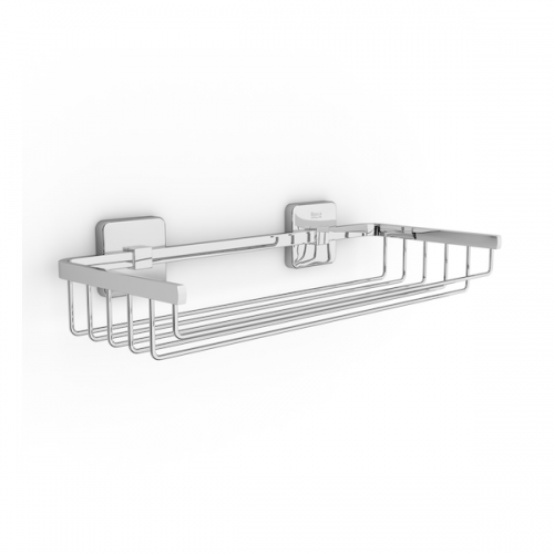Roca Victoria Chrome Wall Mounted 300mm Wire Basket-0