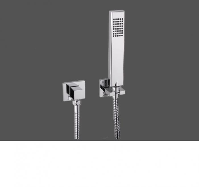 Graff Qubic Tre Polished Chrome Deck Mounted Hand Shower - Set 2329500