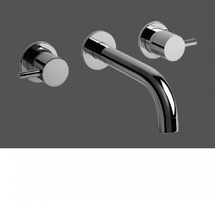 Graff ME Polished Chrome Wall Mounted Basin Mixer - Exposed Parts