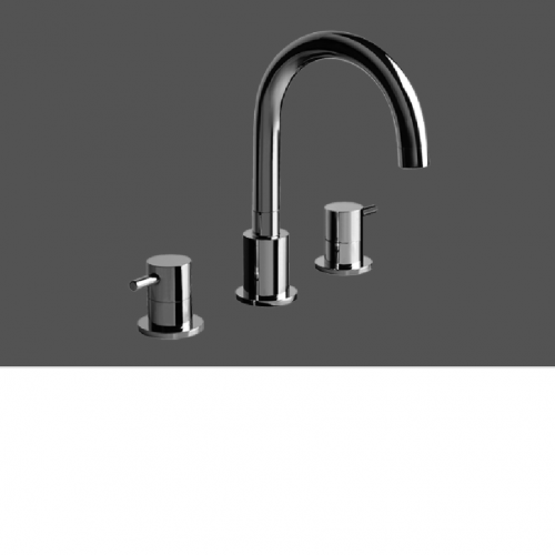 Graff ME Polished Chrome Three Hole Washbasin Mixer