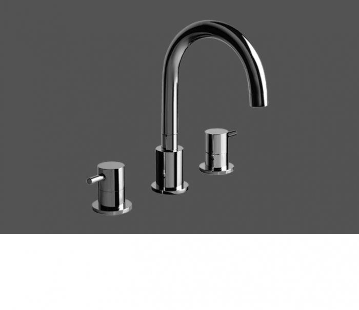 Graff ME Polished Chrome Three Hole Bathtub Mixer