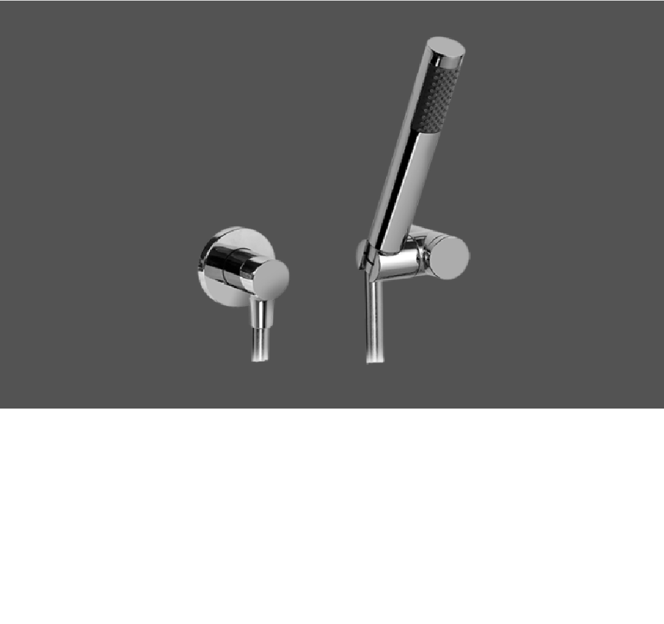 Graff ME25 Polished Chrome Deck Mounted Hand Shower - Set