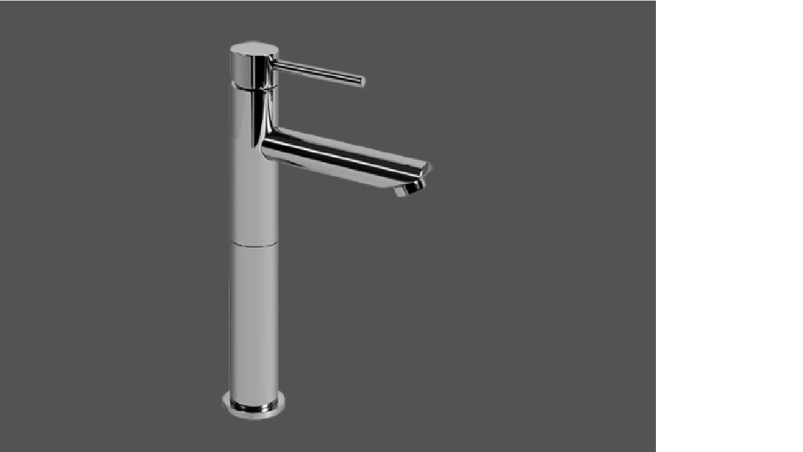 Graff ME25 Polished Chrome Single Lever Tall Basin Mixer 12cm Spout