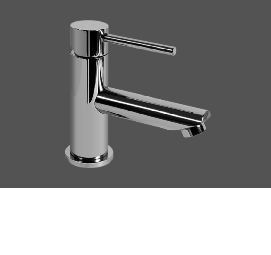 Graff ME25 Polished Chrome Single Lever Basin Mixer 10.5 Spout