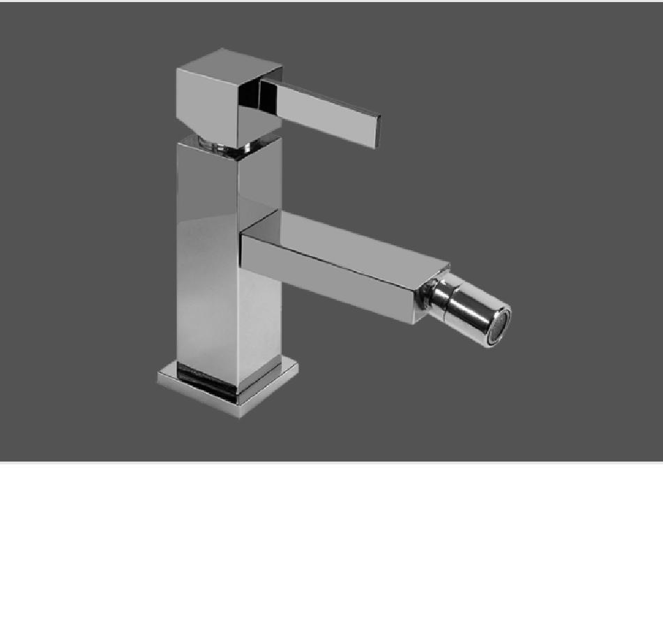 Graff Qubic Tre Polished Chrome Single Lever Bidet Mixer